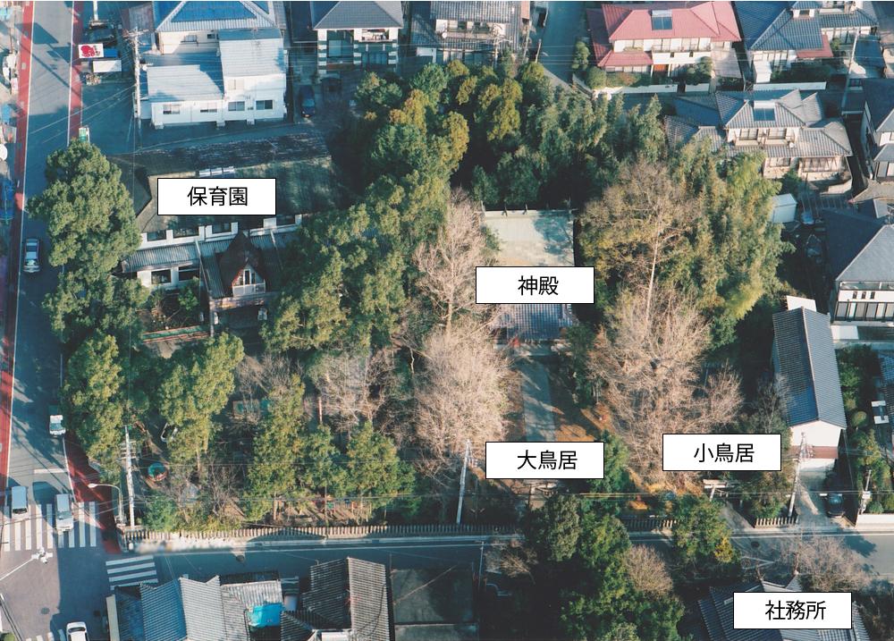 航空写真笛田神社