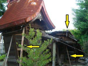 熊本地震四才町天満宮被害